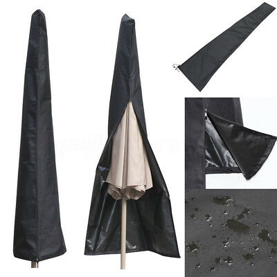 Waterproof Patio Outdoor Cantilever Umbrella Parasol Protective Cover Fit 6-11ft