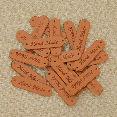 Retro Synthetic PU Leather Tag DIY Handmade Sew Labels Leather Patch Supplies