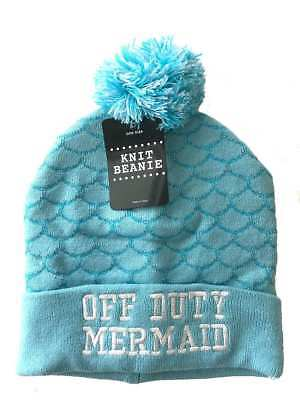 Off Duty Mermaid Beanie Hat New!