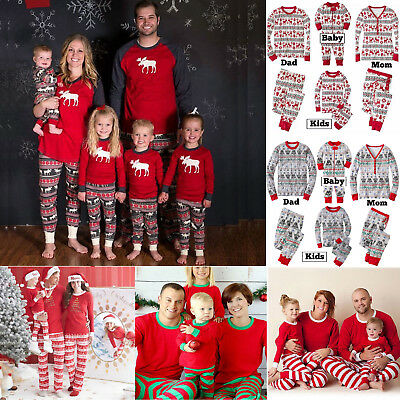 Xmas Kid Adult Family Matching Set Christmas Pajamas Sleepwear Nightwear Pyjamas