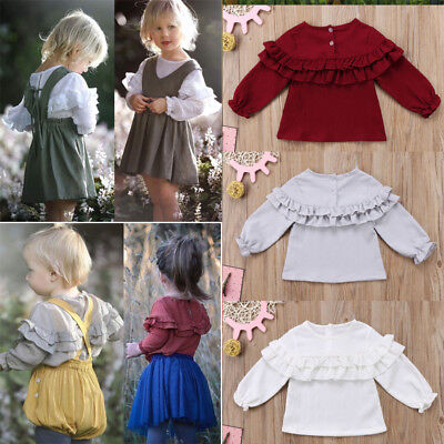Toddler Newborn Baby Girl Long Sleeve T-shirt Blouse Clothes Shirt Tops 0-3Years