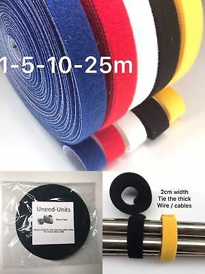20mm Reusable Cable Tie Strap Hook Loop Self-Grip Organiser for THICK HEAVY Wire