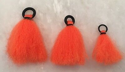 Yarn Strike Indicators The Fly Guy Delta Indicator Set of 3 Orange 1xS, 1xM, 1xL