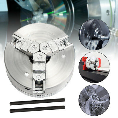 Metal 3 Jaw Self-Centering Lathe Chuck M12*1 45mm For Mini 6 in 1 Lathe+Two Lock