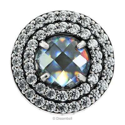 1x 925 Sterling Silver Round Clear Cz Crystal Bead For European Charm Bracelets