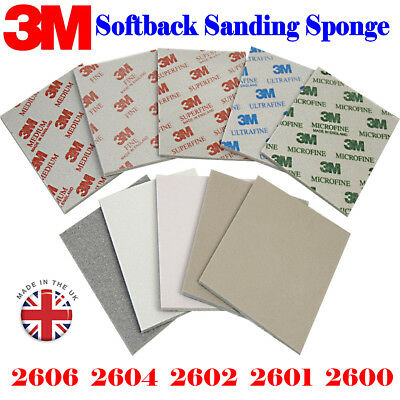 3M Sandpaper 2600 2601 2602 2604 2606 MicroFine- Medium Sanding Sponge Paper Box