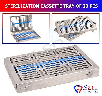 Sterilization Locking Tray For 20 Instruments Cassette Rack Sterilisationkassett