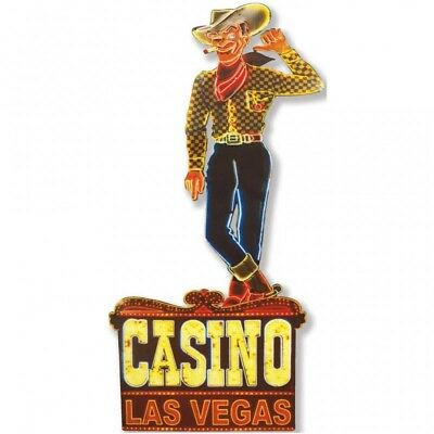 Metal Art Casino Las Vegas 38x80 cm placca in metallo vintage - instantstore