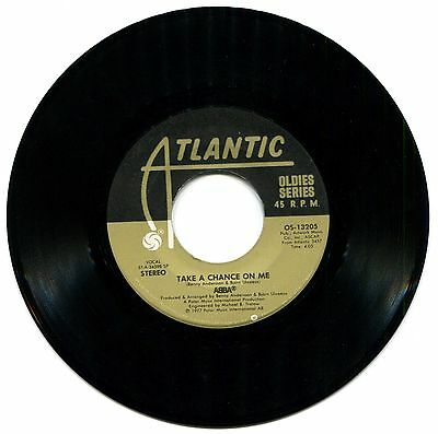 """45 rpm ABBA """"Take a Chance on Me"""" & """"The Name of the Game""""  Atlantic 1977"""