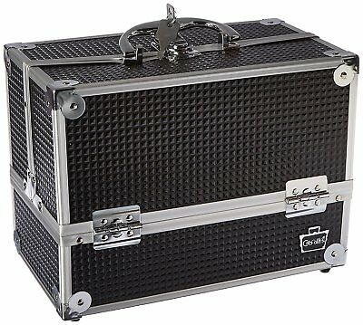 Caboodles Stylist 6 Tray Train Case, Black Diamond, 3.875 Pound