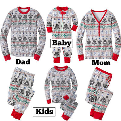 Star Wars Xmas Kid Adult Family Matching Pajamas Sleepwear Nightwear Pyjamas Set
