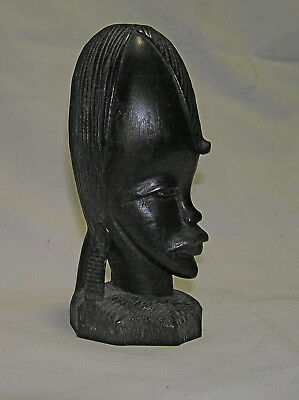 Vintage African Tribal Bust Made Of Ironwood