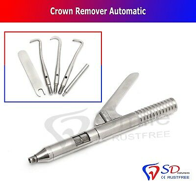Dental Crown Remover Gun Automatic with Five Attachments Removal of Restorations