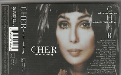 Cher ‎– All Or Nothing (1999) Cassette Single WEA 212C