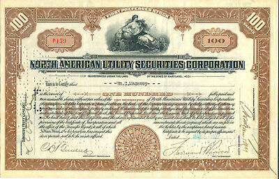 North American Utility Securities Corporation 1927