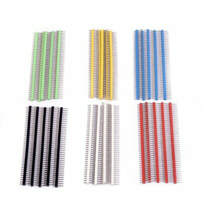 Cylewet 30Pcs 40 Pin Header Breakable 2.54mm Single Row Male Header Connector