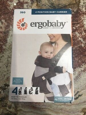 ERGOBABY 360 4 Position Ergo Baby Carrier / COOL AIR MESH CARBON GREY ~ NEW