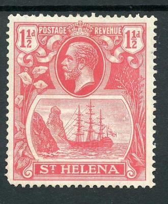 "St Helena 1922-37 1d rose-red ""Torn Flag"" SG99b MLH cat £100"