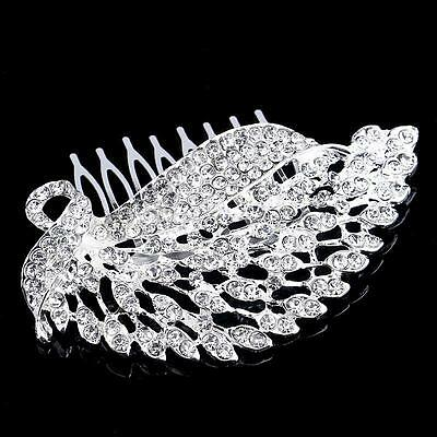 Bridal Princess Austrian Gorgeous Crystal Hair Tiara Wedding Crown Veil Headband