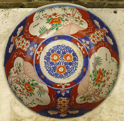 Antique IMARI BOWL Japanese Chinese Porcelain Large 19C.