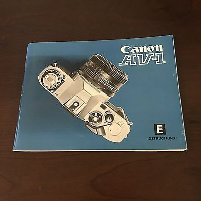 Canon Camera AV-1 Owners Manual Guide (E) Instructions vintage