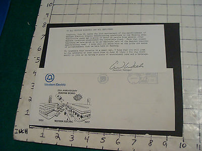 vintage Western Electric 1952-1977 letter & envelope