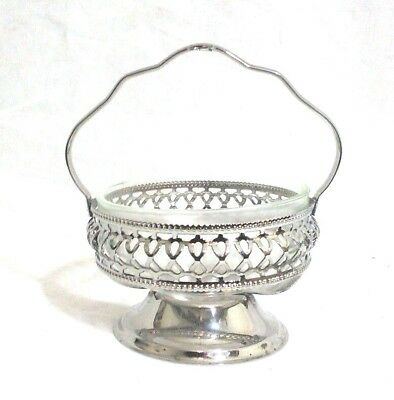 Silver Plated and Glass Candy Dish