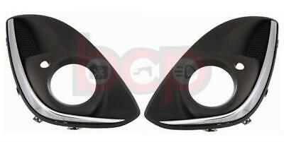 Vauxhall Corsa D 2011 2014 Pair Front Bumper Fog Grille With Chrome Left & Right