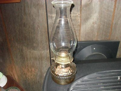 Antique Eagle  Glass Oil Lamp Made In The Usa