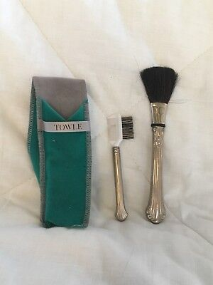 Towle Sterling Silver .925 Make up brush and comb