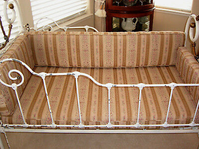 Late 1800's Brass And Wrought Iron Crib - Rare