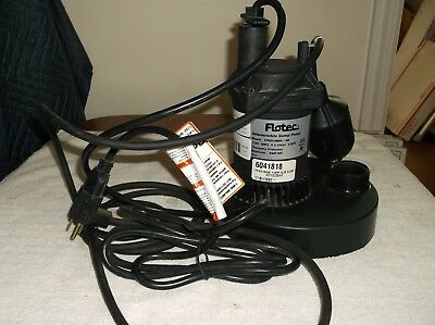 New Flotec 1/4HP Sump Pump w/ Float Switch Submersible Water Pump No Box
