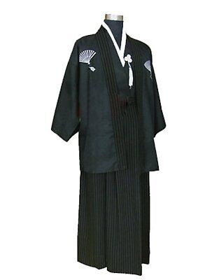 CRB Mens Boys Japanese Traditional Samurai Men Kimono Warrior Robe Outfit Childs