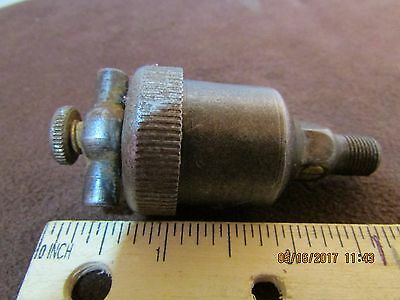 Small Spring Loaded Steel Grease Cup Old Antique Vintage Gas Steam Tractor Hit