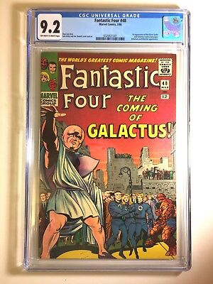 Fantastic Four 48 CGC 9.2 OW/White First App Silver Surfer/Galactus Key  1966
