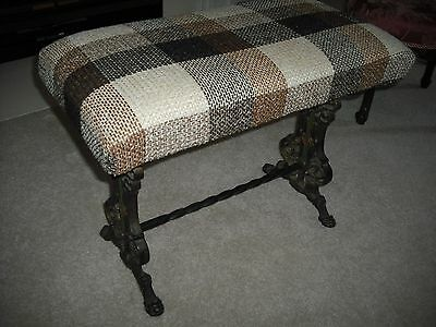 Fireplace Stool  1920's  Cast iron feet