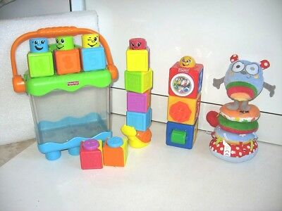 Jouets Jeux A Empiler Empilage Eveil Cubes Fisher Price