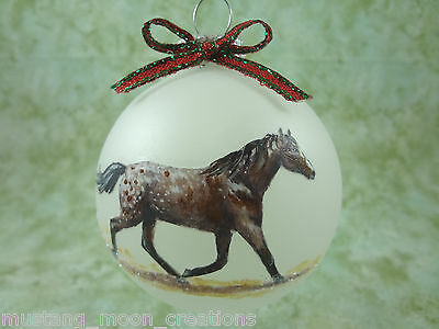 H020 Hand-made Christmas Ornament HORSE - Appaloosa Appy blanket w/ spots bay