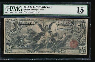 AC Fr 269 1896 $5 Silver Certificate PMG 15... Educational!!!