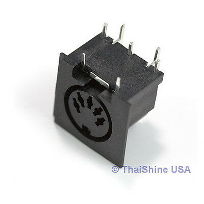 2 x 5 Pin MIDI Connector Female Right Angle - USA Seller - Free Shipping