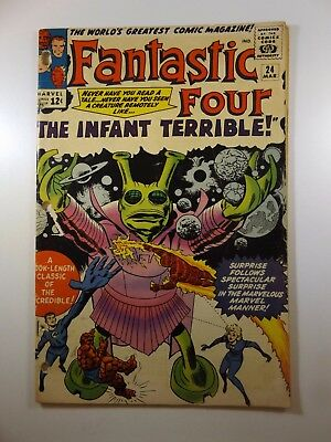 """Fantastic Four #24 """"The Infant Terrible! Good- Condition Classic Silver!!"""