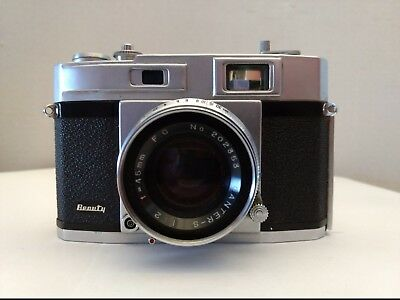 Vintage Beauty Super II Camera  Brown Case Shutter and Winder Tested Free  Ship