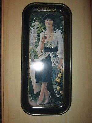 Vintage COKE COCA-COLA TIN LITHO ADVERTISING SERVING TRAY 1973