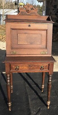 Antique Writing Desk Secretary Drop Slant Front