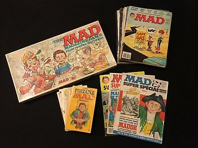 22 ITEM MAD Magazine Gift Set Lot - Board Game, Books, Super Special, Don Martin
