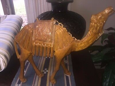 Hand carved from Olive wood is a CAMEL from BETHLEHEM!!! GORGEOUS!!!
