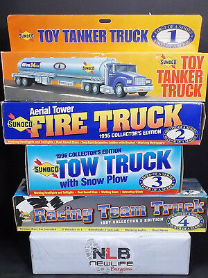 Lot of 4 Sunoco Toy Trucks #1, #2, #3, & #4 1994-1997