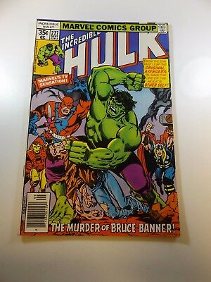 Incredible Hulk #227 FN condition Free shipping on orders over $100.00!