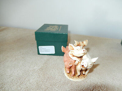 "Harmony Kingdom Original Box Figurine ""hog Heaven"" U.k. Made"