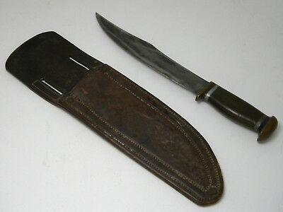 Vintage Unbranded WWII WW2 Fixed Blade Trench Art Knife
